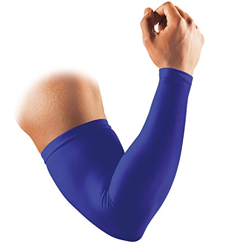 マクダビッド (McDavid) 腕 アームスリーブ アームカバー M656N パワー アームスリーブ コンプレッション 着圧 吸汗速乾 疲労 UVカット ロゴなし 1本入 M ロイヤルブルー スポーツ 日常生活 バスケ 野球 ランニング