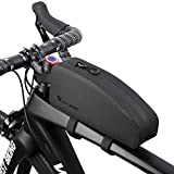 WESTGIRL Fahrrad Rahmentasche, wasserdichte Lenkertasche Oberrohrtasche Fahrradzubehör für Rennräder MTB, Große Kapazität, Zwei Größen (schwarz)
