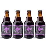 CEREX | Confezione da 4 birre artigianali di lampone | Confezione regalo birra artigianale con confezione regalo di presentazione 4 bottiglie da 330 ml