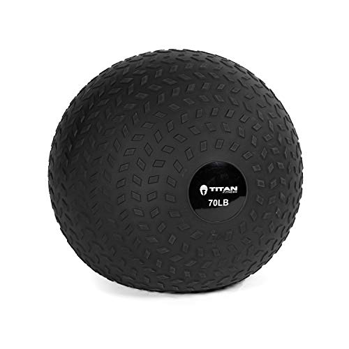 Titan Fitness 70 LB Rubber Tread Medicine Slam Spike Ball Weighted Workout