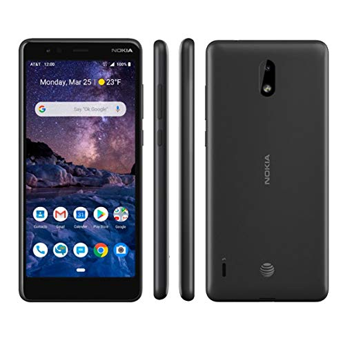 Nokia TA1140 3.1a with 32GB AT&T Prepaid Smartphone, Black