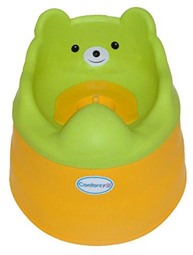 2 in 1 Teddy Potty Training Toilet Seat (Green & Yellow)