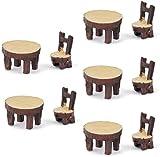 WXH SLL- 5 Jeux de Miniature Fée Ornements de Jardin Chaise résine...