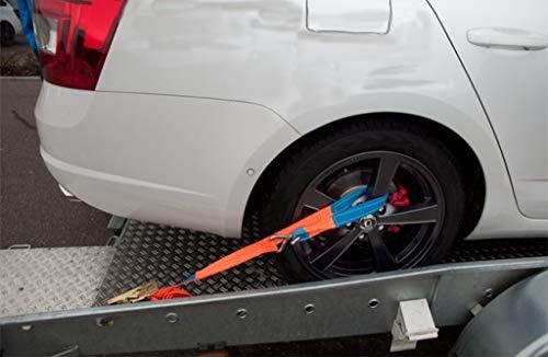 4 Stück Spanngurte für Pkw Transport zur Radsicherung 1000/2000 daN