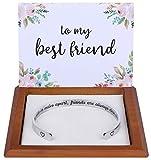 Friendship Gifts Friendship Bracelets Best Friend Gifts for Women Friends Female BFF Bestie Soul Sister Long Distance Best Friend Bracelet Jewelry Birthday Christmas Stuff Ideas Side by Side