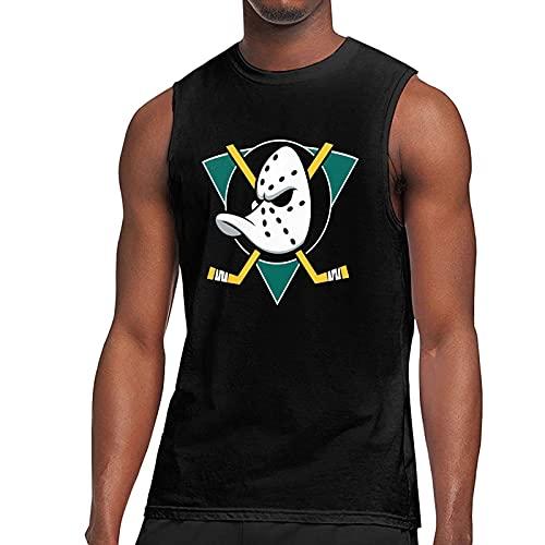 Mi_Ghty Poster Du-CKS Camiseta sin Mangas Personalizada Chaleco con Estampado 3D Camisetas sin Mangas para Hombres