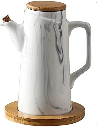 Ollas de vinagre de aceite, aceitera y vinagrera, cerámica Botellas de aceite Botella dispensadora de cerámica Aceite de oliva Salsa de soja Vinagrera Vinagrera Botella dispensadora de aceite 500ML