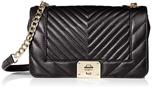 Karl Lagerfeld Paris Lara Quilted Shoulder Bag, Black/Gold