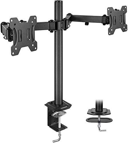 HUANUO Dual Monitor Stand Mount, Fully Adjustable LCD Monitor Desk Mount Fits 13' to 27' Computer...