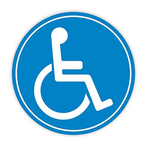Rollstuhl-Magnet Ø 20 cmI Fahrzeug-Magnet für Auto, Behinderten-Transport, Rollstuhl-Fahrer, Wetterfest I mag_180