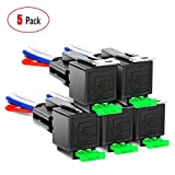 Nilight 50023R 5 Pack 30A Fuse Relay car Truck Socket kit-30A Switch Harness Set-12V DC 4-Pin SPST Automotive 14 AWG Hot Wires-Auto Switches & Starters Set,2 Years Warranty