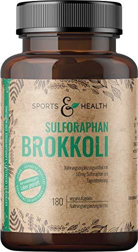 Brokkoli Kapseln - 180 Sulforaphan Brokkoli Kapseln - Vegan - Ohne Füllstoffe - Beste Qualität- Abgefüllt In Deutschland - Aus Brokkoli Extrakt