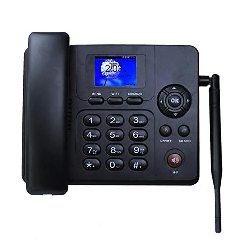 Teléfono Inalámbrico De Escritorio Fijo Negro, Teléfono De Escritorio GSM Inalámbrico, Con Tarjeta SIM, Función SMS, Pantalla De Visualización A Color, Con Identificador De Llamadas,Teléfonos Fijos