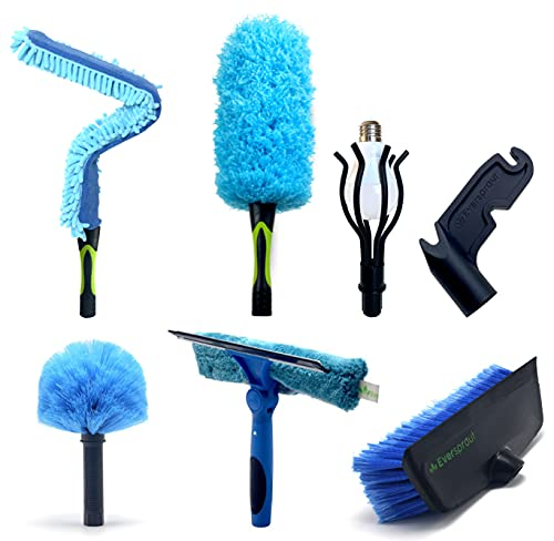 EVERSPROUT Total Kit   Scrub Brush, Light Bulb Changer, Utility Hook, Swivel Squeegee, 3X Microfiber Duster Head...
