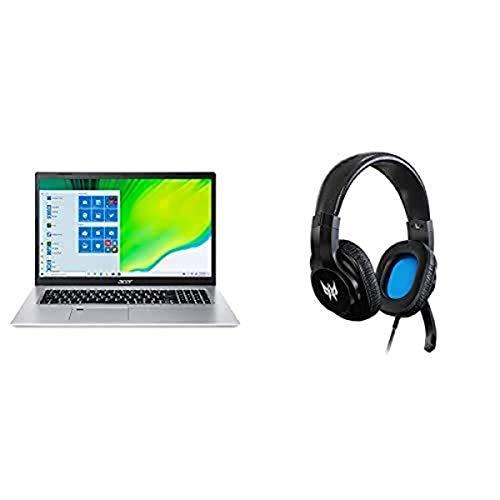 "Acer Aspire 5 Slim Laptop A517-52-713G, 17.3"" Full HD IPS Display, 11th Gen Intel Core i7-1165G7, Intel Iris Xe Graphics, 16GB DDR4, 512GB NVMe SSD with Predator Galea 310 Headset"