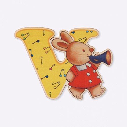 DIDA - Lettre V Bois Enfant - Lettres Alphabet Bois pour Composer Le nom de Votre bébé et décorer la Chambre