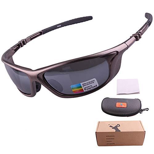 Sproo Unisex Polarizadas Deporte Gafas De Sol, Gafas De Ciclismo De Alta Flexibilidad De La Lente UV400 Protección Antideslumbrante - Conducción/Pesca Gafas De Seguridad,Titanium