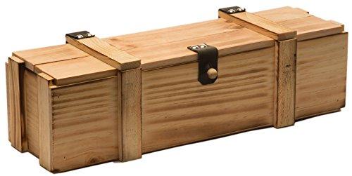 Kistenkolli Altes Land Weinkiste 1er geflammt inkl. Holzwolle/Holzkiste/Geschenkbox/Aufbewahrungsbox/Überraschungskiste/Weinbox/Hochzeitskiste (1er Weinbox)