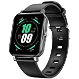 ENGERWALL Smartwatch,1.7'Reloj Inteligente IP68 con Pulsómetro/temperatura Corporal,Monitor de Sueño,Monitores de Actividad Calorías/Podómetro/Cronómetros,Control de Musica,para Android iOS