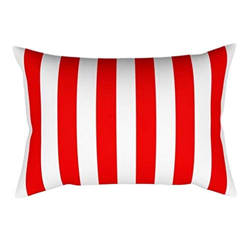 goneryisour - Funda de cojín rectangular con diseño de Papá Noel, diseño de letras creativas