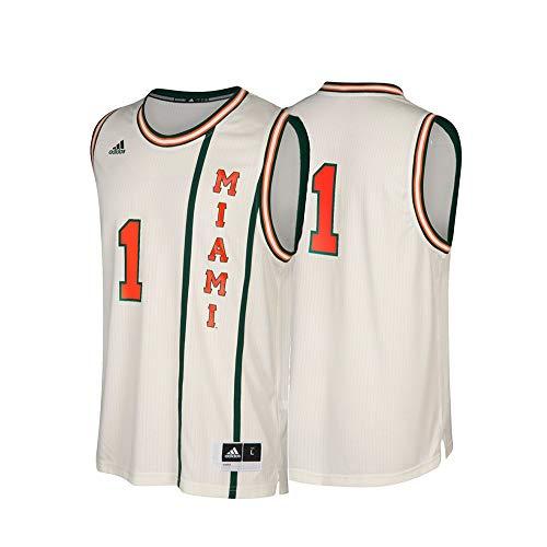 adidas Miami Hurricanes NCAA 1 Hardwood Classics Tan Basketball Jersey (2XL)