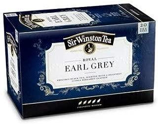 Sir Winston Tea - ROYAL EARL GREY TEA - 4 x 20 Tea bags (80 count)