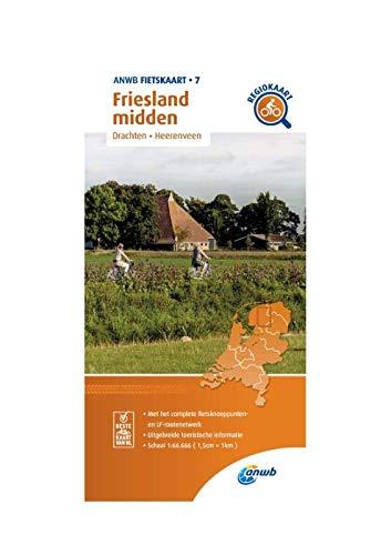 Fietskaart Friesland midden 1:66.666: Drachten, Heerenveen