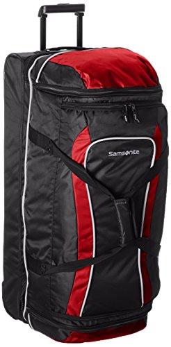 Samsonite Andante Wheeled Rolling Duffel Bag, Black/Red, 32-Inch Drop Bottom