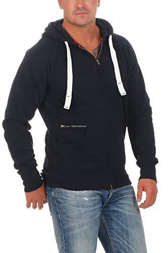 Happy Clothing Herren Kapuzenjacke mit Zip, Dunkelblau, 5XL