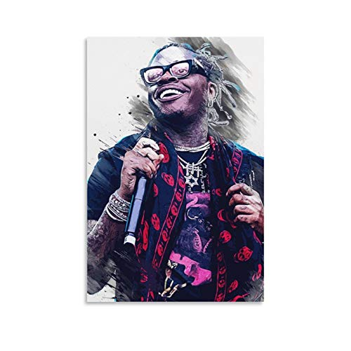 Hip Hop Rapper Gunna Poster Sergio Giavanni Kitchens Room Aesthetics Art Poster 9 Poster Decorative Painting Canvas Wall Art Living Room Posters Bedroom Painting 16x24inch(40x60cm)