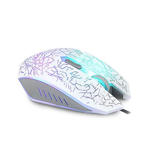 A FANG Juego Ratón Luz De Fondo Grieta Ratón Colorido Óptico Luz RGB Doble Competidor Ergonomía Ratón Silencioso Ratón para Juegos