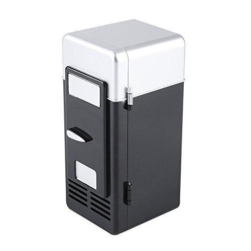 Diyeeni USB Mini Kühlschrank, Tragbar Reisekühlschrank mit Kühl- und Heizfunktion, Getränkekühlschrank für 1 Getränkedosen, 9 x 9 x 19,4 cm, für Auto, Camping, Büro, Unterwegs