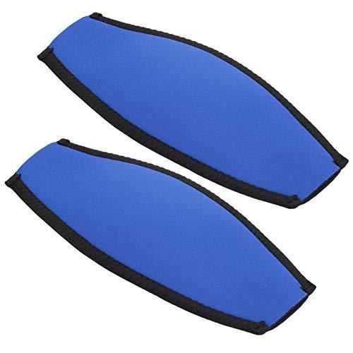 Alomejor Buceo Slap Strap Máscara de Buceo Cubierta de la Correa Cubierta de esnórquel bajo el Agua Protector de Envoltura de Cabello Largo de Buceo(Azul)