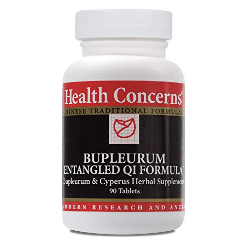 Health Concerns - Bupleurum Entangled Qi Formula - Bupleurum & Cyperus Chinese Herbal Supplement - Modified Chai Hu Xiang Fu Tang - Blood Circulation and Breast Health Support - with Bupleurum Root - 90 Tablets per Bottle