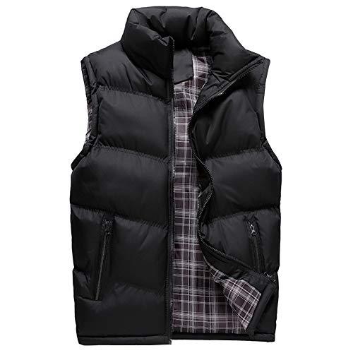 YOUTHUP Veste sans Manches Homme en Hiver Gilet Padded Bodywarmer de Sport Doudoune Légère Manteau Epais, Noir, XL