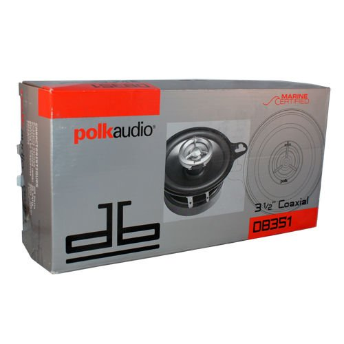 Polk Audio DB351 2-Way 3.5 Car Stereo Coaxial Speakers Marine/Boat Certified