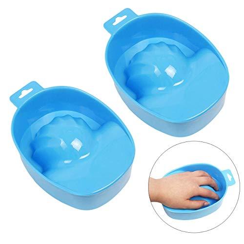 Kalolary 2Pcs Maniküre Schale Manikürschale Handbad Maniküre Werkzeug Nailart-Handwaschschüssel, Einweich-Schüssel, für Zuhause oder Salon, Glitzernagel, Spa-, Bad-Behandlung