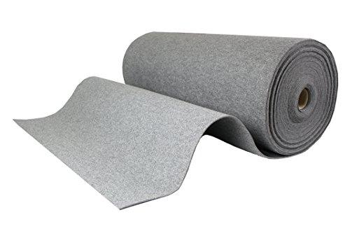 Tukan-tex (13,8€/m) Filz, Taschenfilz, Filzstoffe 0,5lfm Meterware 4mm stark, 1m breit imprägniert (Hellgrau)