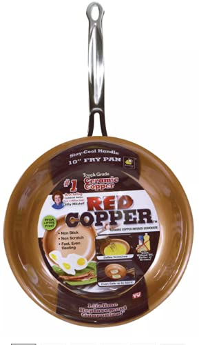 Red Copper 8-Inch Fry Pan