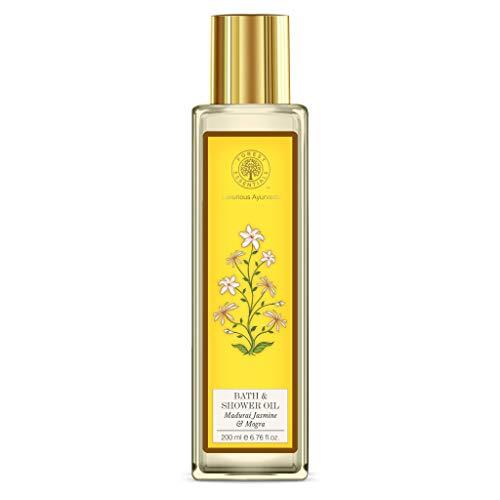 Forest Essentials Bath & Shower Oil - Madurai Jasmine & Mogra 200ml by Forest Essentials