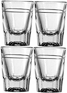 2 oz Heavy Shot Glass with Line (Pack of 4)