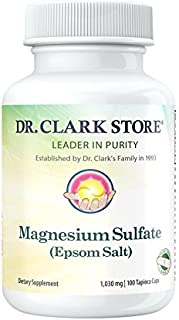 Magnesium Sulfate USP (Epsom Salts), Constipation Relief,Vegetarian, 1030mg, 100 Capsules