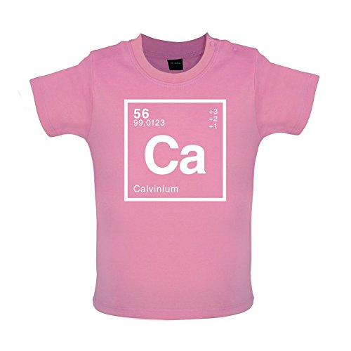 CALVIN - Periodic Element - Baby / Toddler T-Shirt - Bubble Gum Pink - 18-24 Months