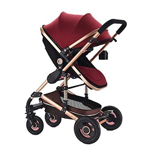 Kinderwagen, super licht, kan het vliegtuig meenemen, voor winkelen, one-stappen, geschikt voor kinderen van 0 tot 36 maanden. rood