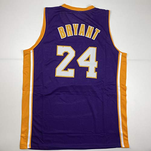 Unsigned Kobe Bryant #24 Los Angeles LA Purple Custom Stitched Basketball Jersey Size Men's XL New No Brands/Logos