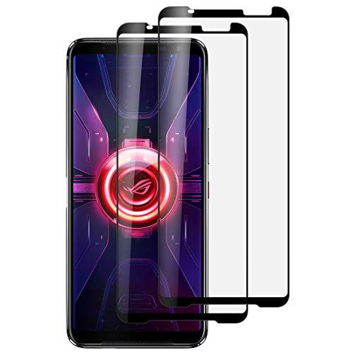 Foluu Bildschirmschutzfolie für Asus Rog Phone 3, gehärtetes Glas, volle Abdeckung, blasenfrei, kratzfest, HD-klar, hohe Reaktionsfähigkeit für Asus Rog Phone 3 von 2020
