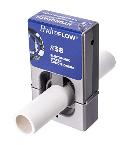 HydroFLOW S38 | Alternative to a Water Softener | Decreases The Risk of a Waterborne Pathogenic Contamination | Descaler for Standard Size Homes | Fits Pipes Up to 1.5' OD