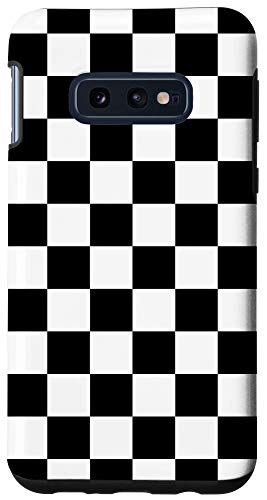 Galaxy S10e Checkered Phone Case Check Plaid Black and White Case