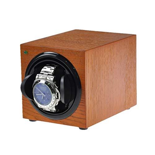 MZPWJD Cajas giratorias Relojes Automáticos Cajas Giratorias,Madera para 1 Relojes con Motor Silencioso Y 5 Modos De Rotación (Color : Brown)