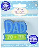 amscan Baby Shower Party Accessories Flashing Button, 2' x 2. 25', Blue